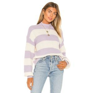 Sanctuary Sweet Tooth Striped Sweater Lilac White